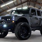 2017 jeep wrangler unlimited jk black kevlar left front angle led lighting