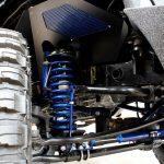 2017 jeep wrangler unlimited jk 4″ Pro Comp dual steering stabilizer custom blue powder coat