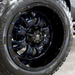 2017 jeep wrangler unlimited jk 22×12 RBP Wheels with blue painted accents 37″x13.50″-22 RBP Repulsor MT tires