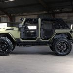 2016 jeep wrangler unlimited jk green kevlar left side angle