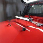 2013 jeep wrangler unlimited jk Rigid Industries hood mounted 20″ LED light bar
