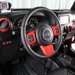 2013 jeep wrangler unlimited jk Rugged Ridge interior accent trim red