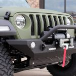 2018 jeep wrangler unlimited jl DV8 FS-7 winch mount front bumper with LED Lighting and over rider hoop 12,000lbs DV8 winch