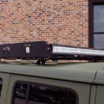 2018 jeep wrangler unlimited jl Fab Fours roof rack DV8 50″ LED light bars DV8 Cube LED lights
