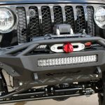 2020 Jeep Gladiator JT add offroad front bumper rigid industries led light bar smittybilt winch