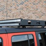 2018 jeep wrangler unlimited jl Fab Fours roof rack DV8 50″ LED light bars B50CE300W3W
