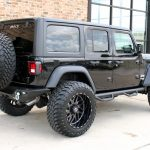 2019 jeep wrangler unlimited jl black right rear angle