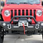 2018 jeep wrangler unlimited jl DV8 FS-7 winch mount front bumper with LED Lighting D-rings & over rider hoop