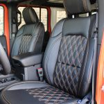 2018 jeep wrangler unlimited jl front seat custom leather black orange stitching