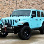 2018 jeep wrangler unlimited jl sky blue kevlar left front angle