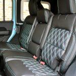 2018 jeep wrangler unlimited jl rear seat custom leather black blue stitching