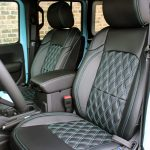 2018 jeep wrangler unlimited jl front seat custom leather black blue stitching