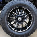 2018 jeep wrangler unlimited jl 22×12 Xtremel Offroad NX-12 Stroke wheels in gloss black with milled accents