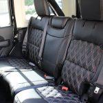 2018 jeep wrangler unlimited jl rear seat custom leather black white stitching