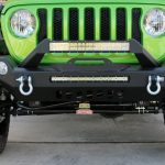 2018 jeep wrangler unlimited jl DV8 20″ LED light bar Skyjacker dual steering stabilizer