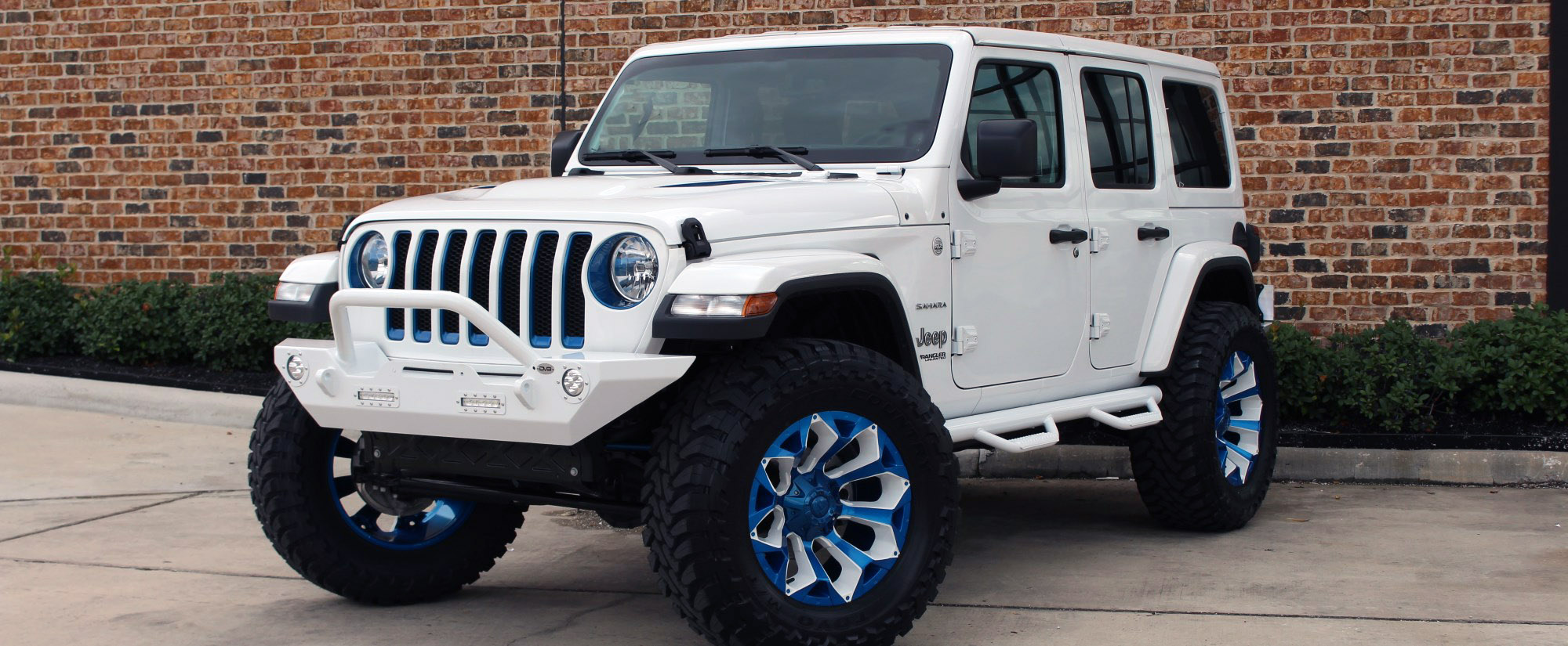 2018 jeep wrangler unlimited jl white blue