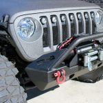 2018 jeep wrangler unlimited jl DV8 FS-15 winch mount front bumper with D-rings over rider hoop 9,500lbs Rough Country winch