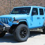 2019 jeep wrangler unlimited jl grabber blue kevlar front left angle