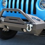 2019 jeep wrangler unlimited jl DV8 FS-15 winch mount front bumper with D-rings & over rider hoop