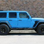 2019 jeep wrangler unlimited jl grabber blue kevlar right side angle