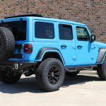 2019 jeep wrangler unlimited jl grabber blue kevlar right rear angle