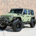 2019 jeep wrangler unlimited jl army green kevlar left front angle
