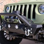 2019 jeep wrangler unlimited jl DV8 FS-11 winch mount front bumper with LED Lighting D-rings over rider hoop