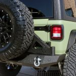 2019 jeep wrangler unlimited jl DV8 rear bumper with D-rings RBJL-06 DV8 add-on tire carrier
