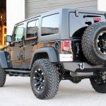 black 2016 jeep wrangler unlimited jk left rear angle