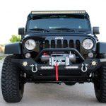 black 2016 jeep wrangler unlimited jk front angle