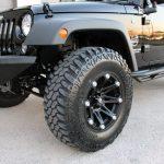 black 2016 jeep wrangler unlimited jk 17×9 Ballistic 814 Jester Wheels in flat black 35x12.50R17 Lexani Mud Beast tires