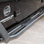 black 2016 jeep wrangler unlimited jk AWT Rock Rails with Steps