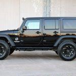 black 2016 jeep wrangler unlimited jk left side angle