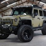green kevlar 2014 jeep wrangler unlimited jk left front angle