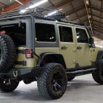 green kevlar 2014 jeep wrangler unlimited jk right rear angle
