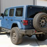 2018 jeep wrangler unlimited jl blue kevlar left rear angle