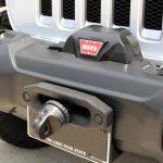 white 2018 jeep wrangler unlimited jl Custom mounted 10,000lbs Warn winch 89611