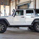 2016 jeep wrangler unlimited jk white left side angle