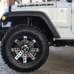 2016 jeep wrangler unlimited jk 17×9 Remington Buckshot wheels in Machined Black 35″x12.50″-17 Lexani Mud Beast MT tires