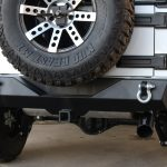 2016 jeep wrangler unlimited jk DV8 RBSTTB-04 rear bumper with hitch mount and D-rings