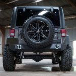 gray 2016 jeep wrangler unlimited jk rear angle