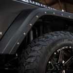 gray 2016 jeep wrangler unlimited jk front RBP fender armor 791483