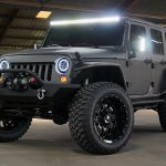 2017 jeep wrangler unlimited jk black & gray kevlar left front angle lit led