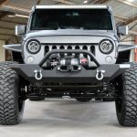 2017 jeep wrangler unlimited jk black & gray kevlar front angle