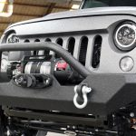 2017 jeep wrangler unlimited jk AWT winch mount front bumper with 9,500lbs Smittybilt winch