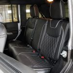 2017 jeep wrangler unlimited jk rear seat custom black leather with silver piping and stitching