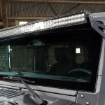 2017 jeep wrangler unlimited jk Rough Country upper windshield mount 70504 with DV8 50″ LED light bar B50CE300W3W