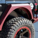 2020 jeep wrangler unlimited jl black & maroon rear DV8 Armor fenders FDJL-01