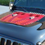 2020 jeep wrangler unlimited jl black & maroon Poison Spyder hood louver