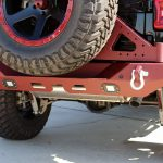 2020 jeep wrangler unlimited jl black & maroon DV8 RBJL-01 rear bumper with LED Lighting & D-rings DV8 spare tire carrier